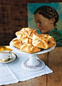 Topfenkolatschen (yeast dough parcels filled with quark, Austria)