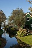 Amsterdam, Noord, Dorf Holysloot, Holzhaus, Garten, sommerlich