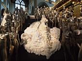 Bridal statues in Nieuwe Kerk Church, Amsterdam, Netherlands