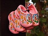 Floral pattern pink clogs in Amsterdam, Netherlands