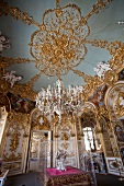 Dining room of Herrenchiemsee New Palace, Chiemgau, Bavaria, Germany