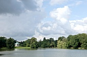 View of Temple of Jupiter on Swan Island, Hesse, Germany