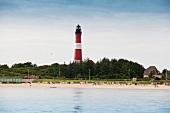 Lighthouse at Hornumer Oststrand, Wadden Sea, Sylt, Germany