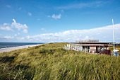 View of restaurant in dunes, Sylt, Germany