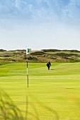 Chef Jens Rittmeyer playing golf in Golfclub Budersand Sylt, Germany