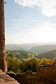 View from Castle Hanstein in Thuringia, Werra Valley, Kassel, Hesse, Germany