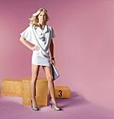 Frau, Sportlerin, weißes Kleid, Britta Steffen