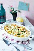 Rigatoni bake with fennel and sheep's cheese
