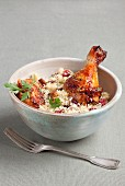 Chicken with cranberry couscous