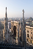 View of Galleria Vittorio Emanuele II from Milan Cathedral in Italy