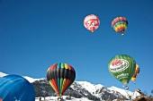 Air balloon in Chateau d'Oex, Alps, Canton of Vaud, Lake Geneva, Switzerland