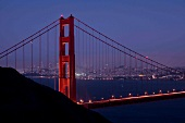 Golden Gate Bridge, San Francisco, Abendrot