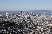 View of skyline and cityscape in San Francisco, California, USA