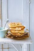 Apple crumble tray bake cake