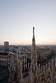 View of cityscape and Milan Cathedral at Milan, Italy