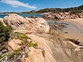 Rocks at Baja Trinita beach in La Maddalena Island, Sardinia, Italy