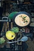 Quitten-Süßkartoffel-Suppe