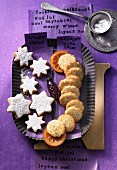 Orange and poppyseed biscuits and orange stars