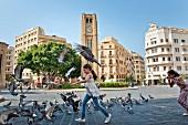 View of Hamidiya Clock Tower in Najmah Square at Place De L'Etoile, Beirut, Lebanon