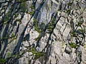Aerial view of mountaineers in Pen-y-Benlog at Snowdonian National Park, Wales, UK