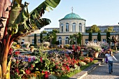 View of Royal Gardens, Mountain Garden and Library, Hannover, Germany