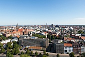 View of city from New Town Hall in Hannover