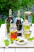 Rhubarb juice, woodruff jelly and blossom honey