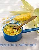 Sweet corn polenta