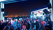 People at rooftop skybar in Palm Beach Hotel, Beirut, Lebanon