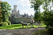 Horse carriage in front of Marienburg Castle, Lower Saxony, Germany