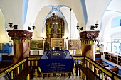 View of Torah shrine at Ari Ashkenazi Synagogue, Safed, Israel