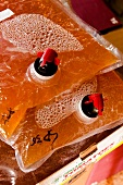 Close-up of apple juice in juice box at Hessen-Kassel