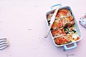 Abnehmen, Spinat-Auberginen-Lasagne