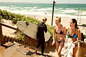 Women at in beach, Durban, South Africa