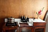 Treatment products on table at Barberyn Reef Ayurveda Resort in Sri Lanka