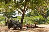 People in jeep safari at Yala National Park, Colombo, Southern Province, Sri Lanka