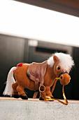 Close-up of Landegge toy horse