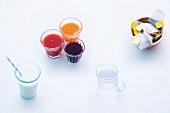 Abnehmen, Zusammenstellung, verschiedene Getränke
