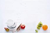 Abnehmen, Stillleben, Geschirr, Früchte, Knäckebrot, Obst