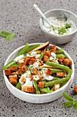 Abnehmen to go, Bohnensalat weiß-grün