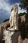 Türkei, Türkische Ägäis, Antike, Ephesus, Ruine, Statue, Detail