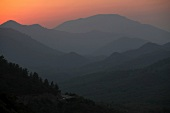 View of Resadiye Peninsula at sunset in Aegean, Turkey