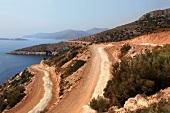 View of mountain and sea in Resadiye Peninsula, Turkey