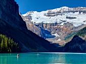 View of Lake Louise and mountains at Banff National Park, Alberta, Canada