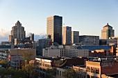 Kanada, Montreal, Blick vom Hotel Zero, Stadtblick, Morgenlicht
