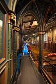 Interior of Notre Dame Basilica in Montreal, Canada