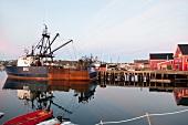 Kanada, Nova Scotia, Lunenburg, Hafen, Morgenlicht, Schiffe