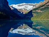 View of Lake Louise glaciers in Banff National Park, Alberta, Canada