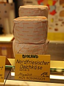 Cheese specialties with price label in Spiekeroog, Lower Saxony