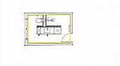 Abbildung, Zeichnung, Badezimmer, Grundriss, von oben